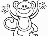 Cute Monkey Coloring Pages Free Printable Monkey Coloring Page Cj 1st Birthday