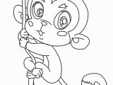 Cute Monkey Coloring Pages Fresh Monkey Page to Color Collection