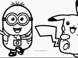 Cute Pikachu Coloring Pages Bob and Minions Coloring Page Minion