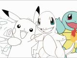 Cute Pikachu Coloring Pages Pokemon Pikachu Charmander Bulbasaur Squirtle ★ Coloring Page
