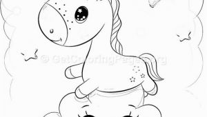 Cute Unicorn Coloring Page 11 Cute Cartoon Unicorn Coloring Pages