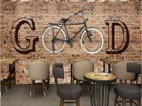 Cycling Wall Murals Custom Any Size Murals Wallpaper 3d Brick Bicycle Wall
