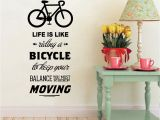 Cycling Wall Murals Life is Like Riding A Bicycle Quote Bike Wall Sticker Diy Cycling