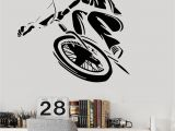 Cycling Wall Murals Vinyl Wall Decal Bmx Bike Cyclist Teen Room Art Urban Style Stickers