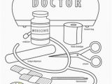 D is for Doctor Coloring Page Doctor Coloring Page tools раскраски и вырезаРки