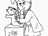 D is for Doctor Coloring Page Kid Women Doctor Coloring Sheet Printable Doctor Day Coloring