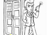 D is for Doctor Coloring Page Tenth Doctor Coloring Page Doctor who