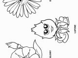Daisy Girl Scout Flower Friends Coloring Pages Morning Glory Lupine and Daisy