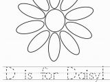 Daisy Petal Coloring Pages D is for Daisy Worksheet Twisty Noodle