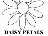 Daisy Petal Coloring Pages Daisy Petals B & W