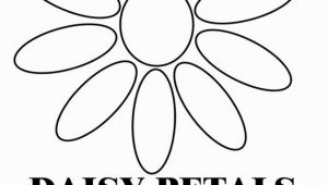 Daisy Petal Coloring Pages Daisy Petals B & W