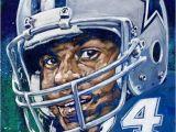 Dallas Cowboys Wall Murals Everson Walls Cowboys by Robert Hurst Sports Art