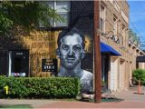 Dallas Mural Artists Street Mural Of Lee Harvey Oswald In the Bishop Arts District Bild