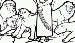 Daniel and the Lions Den Coloring Page Printable Daniel and the Lions Den Picture Coloring Page Netart