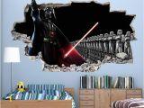 Darth Vader Wall Mural Cool Star Wars Boys Bedroom Decal Vinyl Wall Sticker Q046