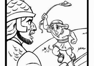 David and Goliath Coloring Page 20 Jonathan Und David Malvorlagen