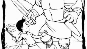 David and Goliath Coloring Page 20 Jonathan Und David Malvorlagen