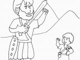 David and Goliath Coloring Page Free Goliath and David the Good Guy Kidmin