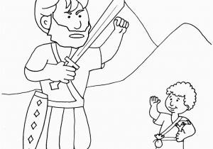 David and Goliath Coloring Page Goliath and David the Good Guy Kidmin