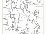 David and Goliath Coloring Page Lds Coloring Pages