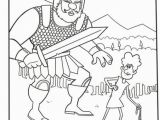 David and Goliath Coloring Page Lds Hollywood Foto Art