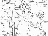 David and Goliath Coloring Page Lds Unique David and Goliath Coloring Pages