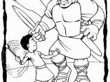 David and Goliath Coloring Pages for toddlers 20 Jonathan Und David Malvorlagen