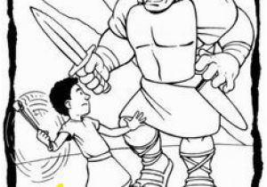 David and Goliath Coloring Pages with Story 111 Best David and Goliath Images