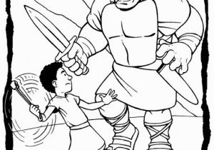 David and Goliath Coloring Pages with Story 20 Jonathan Und David Malvorlagen