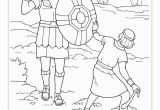 David and Goliath Coloring Pages with Story Coloring Pages