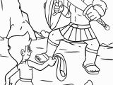 David and Goliath Printable Coloring Pages David and Goliath Coloring Page