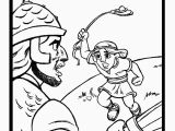 David and Goliath Printable Coloring Pages David and Goliath