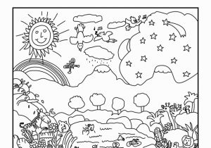 Day 6 Creation Coloring Page Creation Coloring Pages for Preschoolers