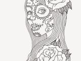 Day Of the Dead Skeleton Coloring Pages Of the Dead Coloring Pages for Adults