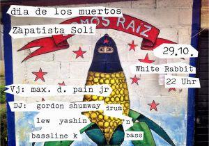 Day Of the Dead Wall Mural Dia De Los Muertos – Zapatista soli