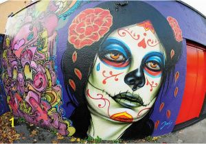 Day Of the Dead Wall Mural El Mac Realistic Street Art Gallery Street Art
