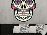 Day Of the Dead Wall Mural Osmdecals Sugar Skull Wall Decal Mural Sticker Home Decor Series 7