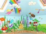 Daycare Murals Cartoon Characters or Animals Mural Painting for the Kids Room