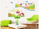 Daycare Murals Rainbow Road Wall Stickers for Kids Rooms Daycare Wall Decorations