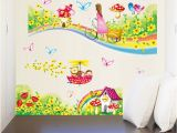 Daycare Murals Zs Sticker Rainbow Road Wall Stickers for Kids Rooms Daycare Wall