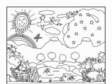 Days Of Creation Coloring Pages Creation Coloring Pages for Preschoolers