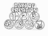 Days Of Creation Coloring Pages Days Creation Coloring Pages Coloring Chrsistmas