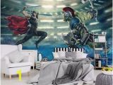 Dc Comics Wall Mural Various Size & Design Wall Mural Wallpapers Kids Marvel