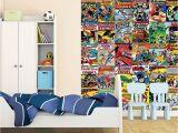 Dc Comics Wall Murals 1 Wall Wallpaper Mural Ics Batman Superman Wonder Woman the Flash