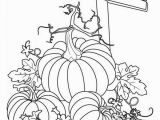 Decorate A Pumpkin Coloring Page Pumpkins Sign Of Pumpkins Garden Coloring Page