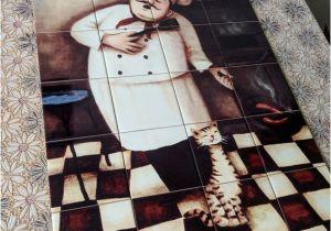 Decorative Wall Tiles Murals Decorative Handmade Ceramic Tile Mural Of Chef F6 Tile Decor Decorative Tiles Ceramic Tiles Tile Mural Kitchen Backsplash Idea Ts Chef