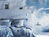 Deep Blue Clouded Marble Wall Mural Pin Auf Wohnen