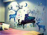 Deer Wall Mural Decals Detail Feedback Questions About 3d Effect forest Deer Wall