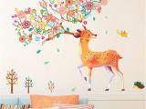 Deer Wall Mural Decals Stickerskart Pvc Deer Wall Sticker