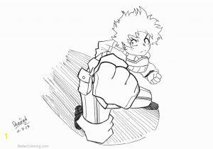 Deku My Hero Academia Coloring Pages My Hero Academia Coloring Pages Deku by Shadabs Free